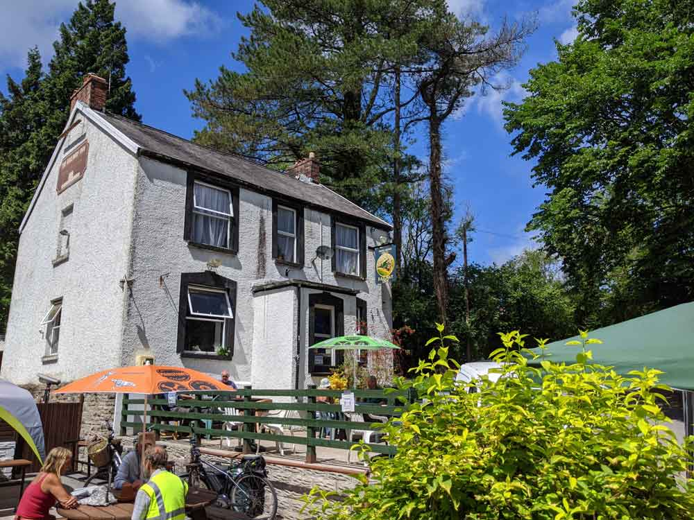 Railway Inn on Clyne Valley Trail, Upper Killay, Swansea