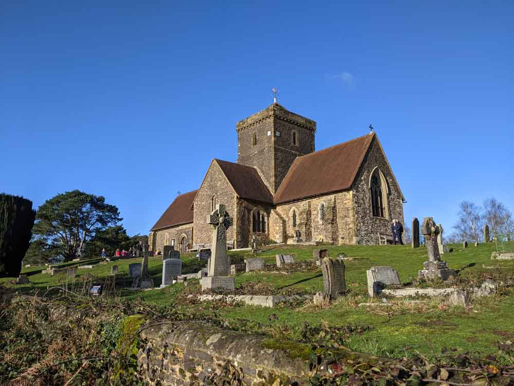 St Martha's Church, Albury, Surrey Hills, UK