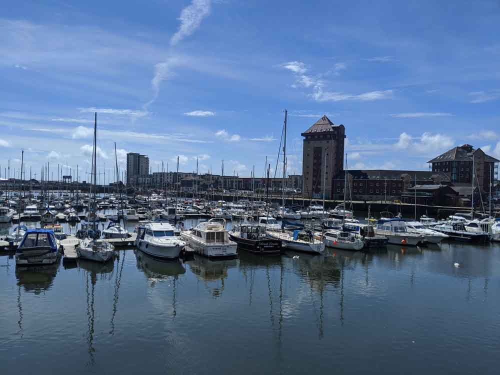 Swansea Marina view, Wales, UK
