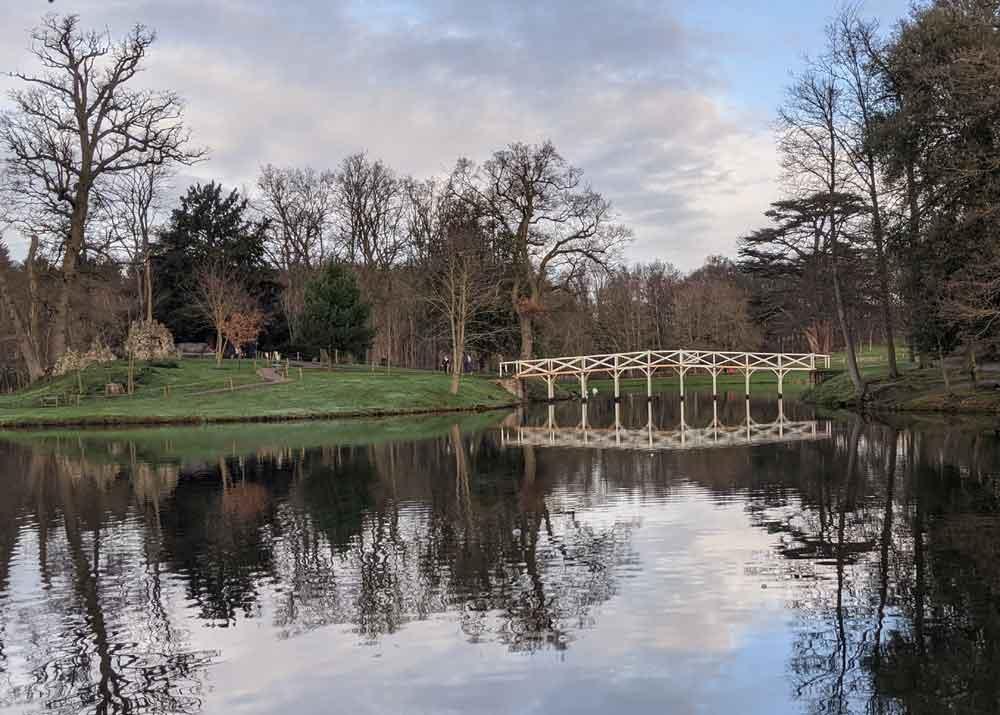 Views of Painshill Park, The lake at Painshill Park, Surrey, UK