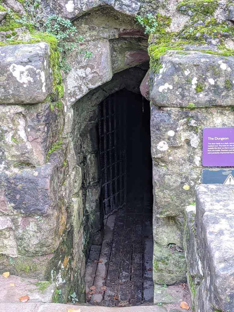 The Dungeon entrance, Goodrich Castle, Wye Valley