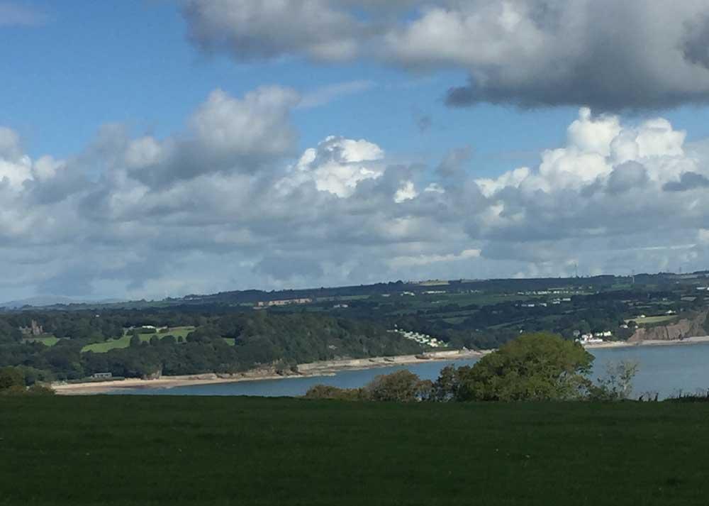 View from Monkstone, Tenby walk, Wales, UK