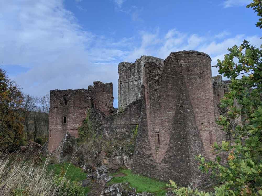 View of Goodrich Castle, Wye Valley, UK