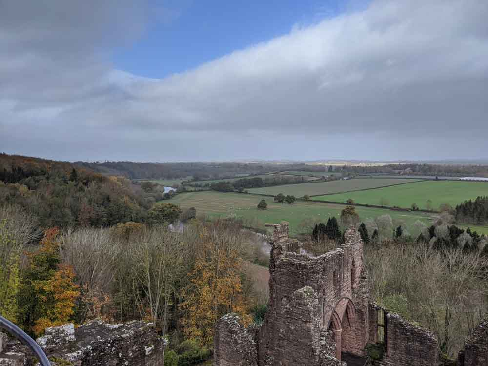 Views of Wye Valley from Goodrich Castle