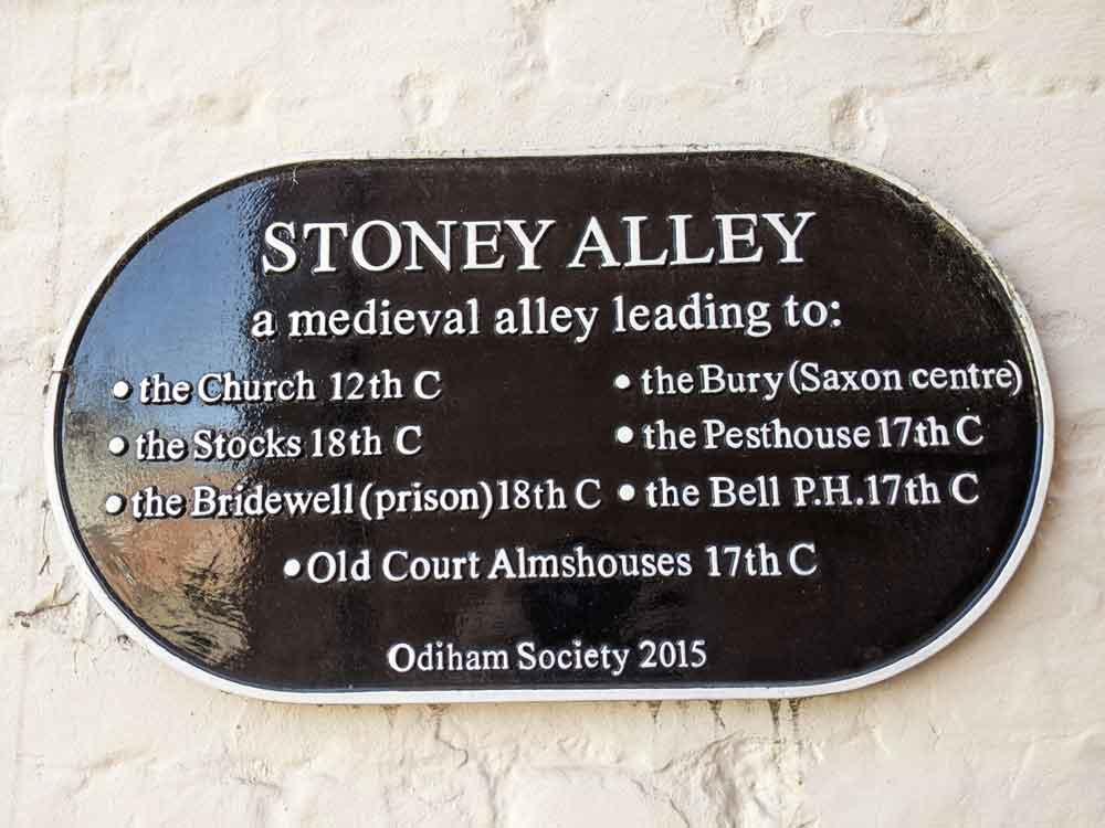 Stoney Alley, Odiham, Hampshire, UK
