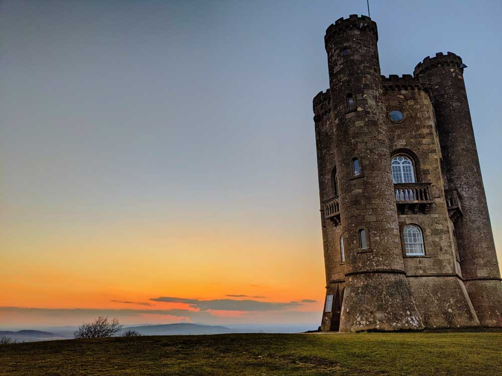 Sunset at Broadway Tower, Broadway, Cotswold, UK