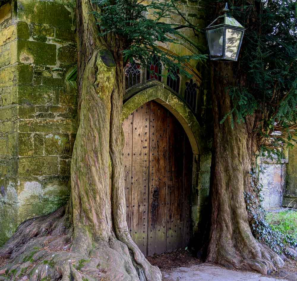 St Edwards Church Door, Stow on the Wold, Cotswold, UK