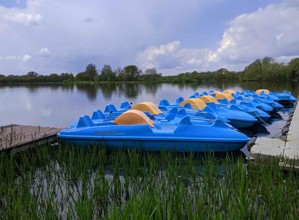 Boats at Dinton Pastures Activity Centre, Berkshire, UK