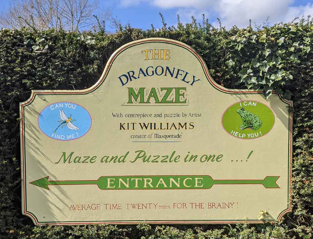 Dragonfly Maze at Bourton on the Water, Cotswolds, UK
