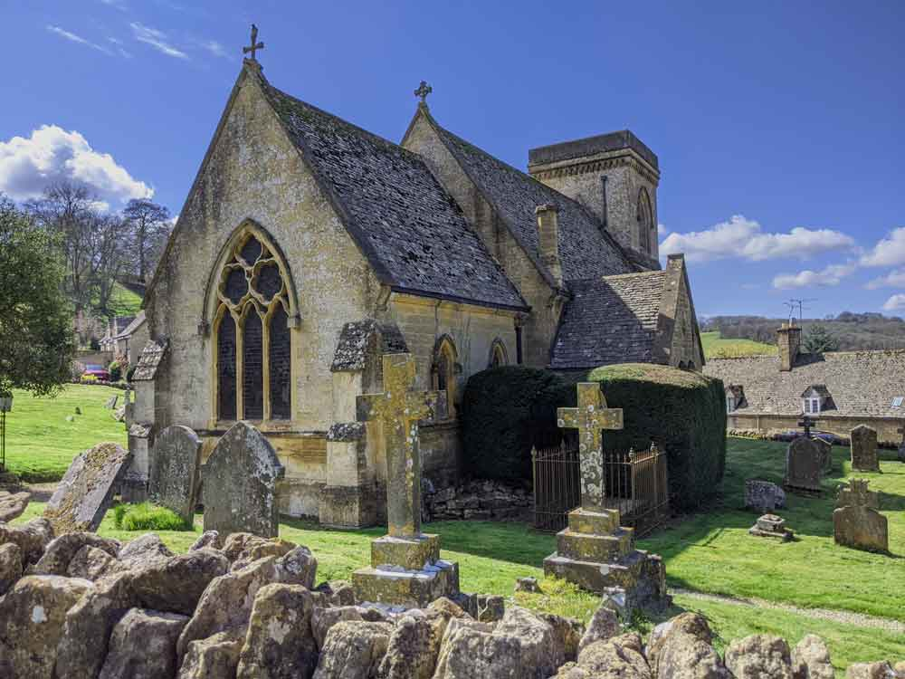 St Barnabas Church, Snowhill Village, Cotswold, UK