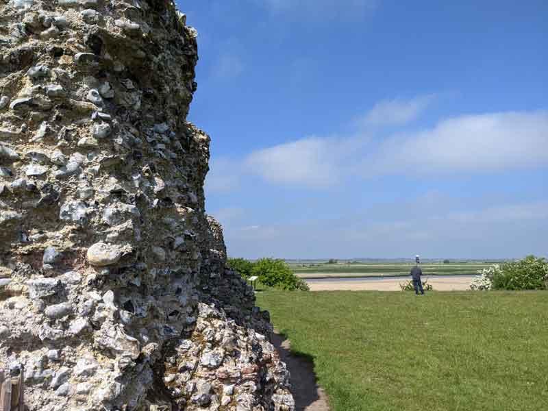 Burgh Castle Walls, Norfolk, UK