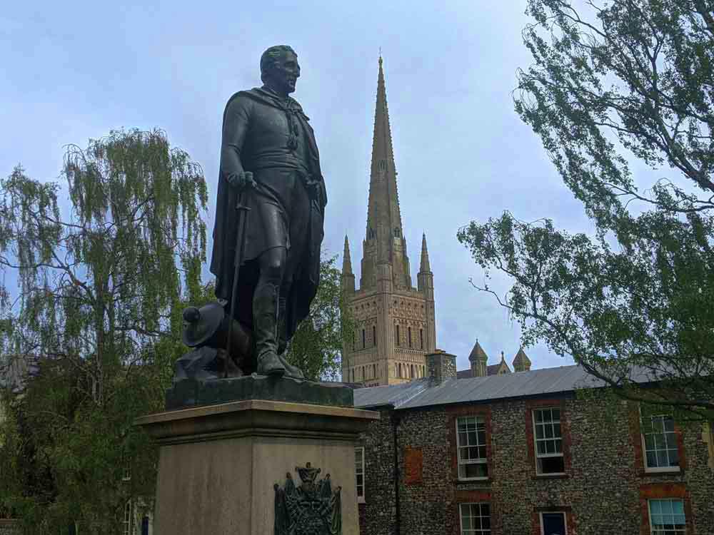 Duke of Wellington Statue, Norwich, Norfolk, UK
