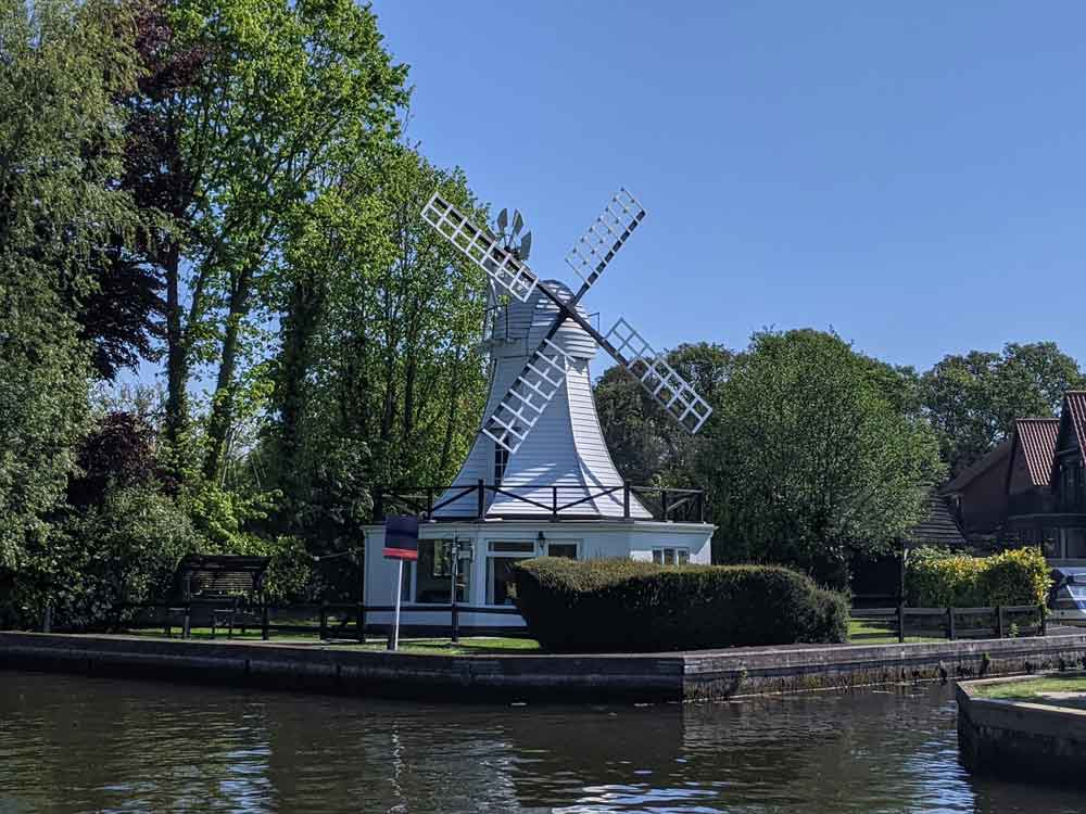 Horning Riverside Windmill, Norfolk, UK