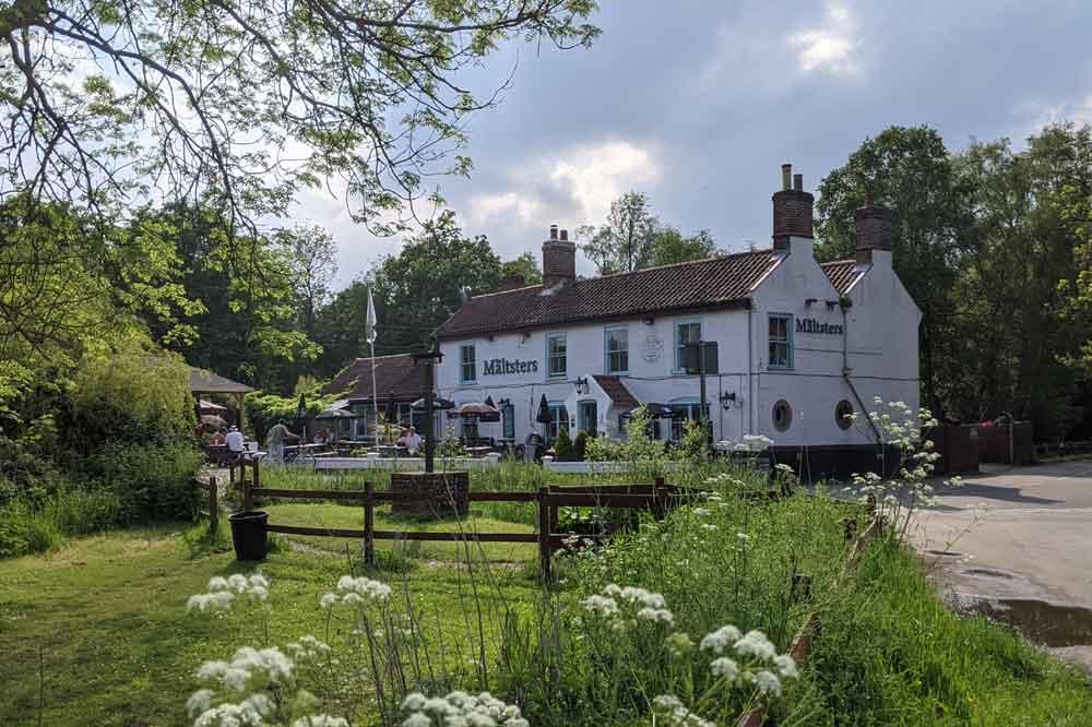 Maltsters Pub at Ranworth Broad, Norfolk, UK