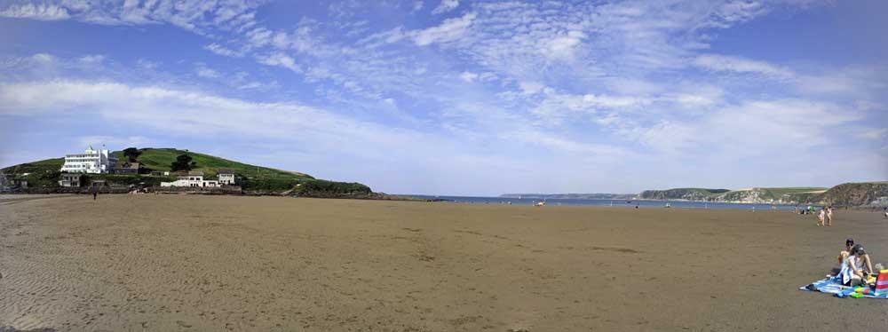 Bigbury Beach, Devon, UK