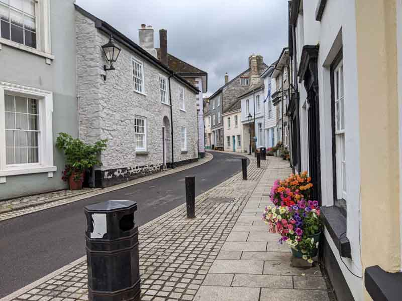 Main street, Buckfastleigh, UK