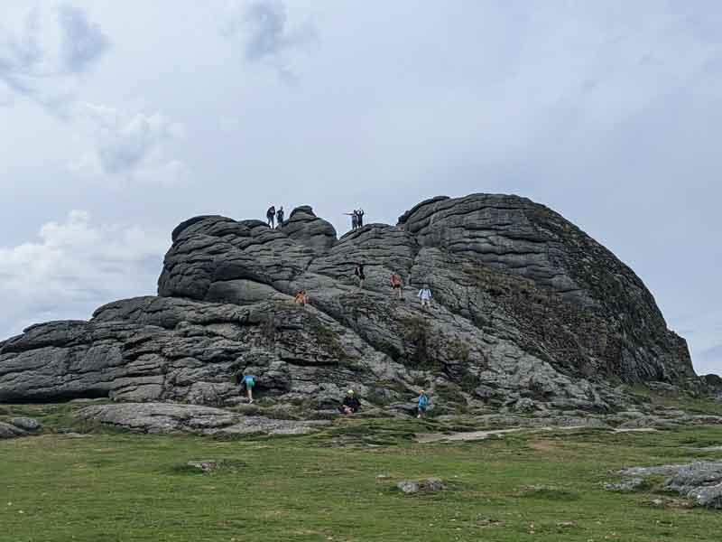 Climbing Haytor, Dartmoor, UK