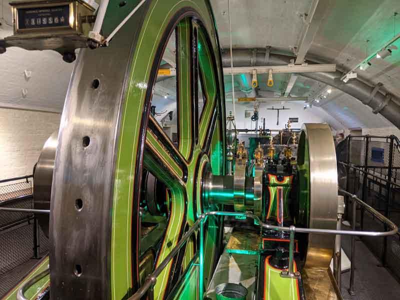Engine room at Tower Bridge, London, UK