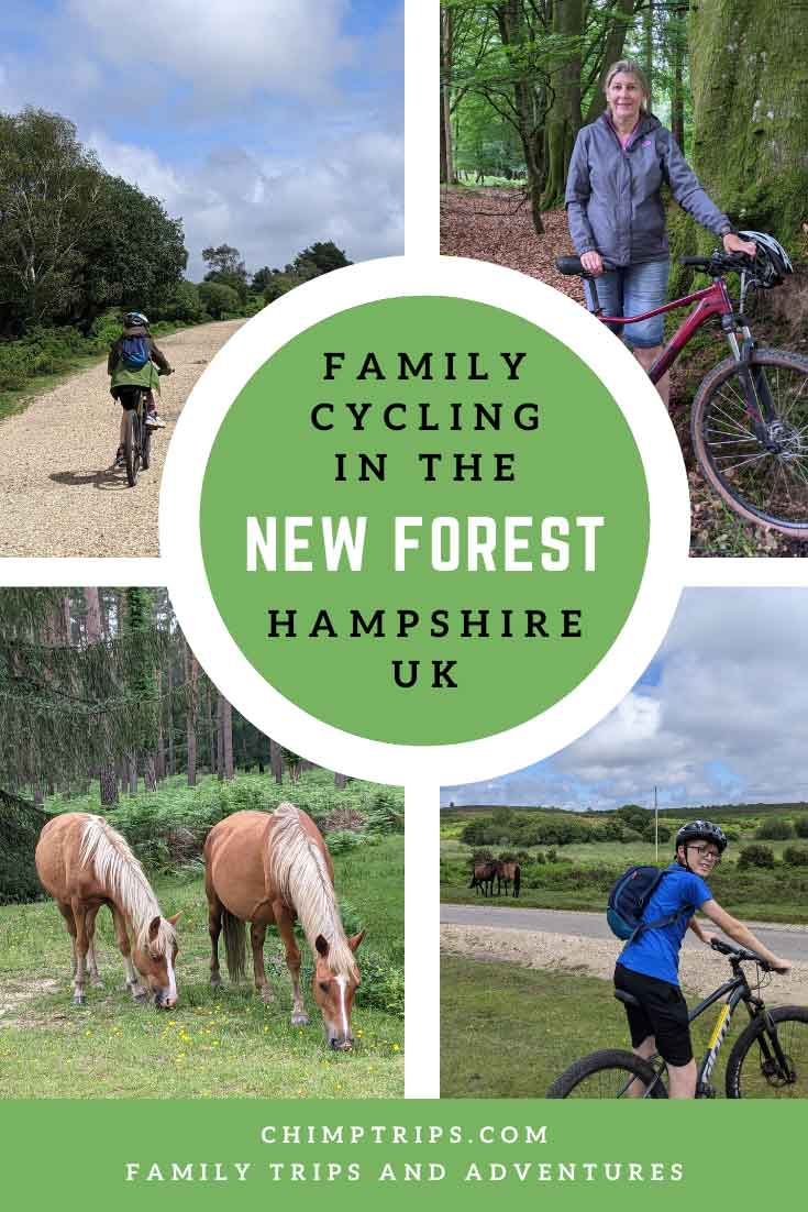 Pinterest: Family cycling in the New Forest
