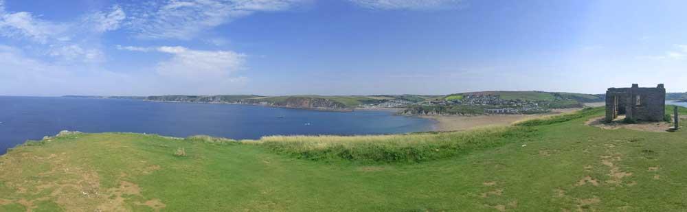 Panoramic views from Burgh Island, Devon, UK