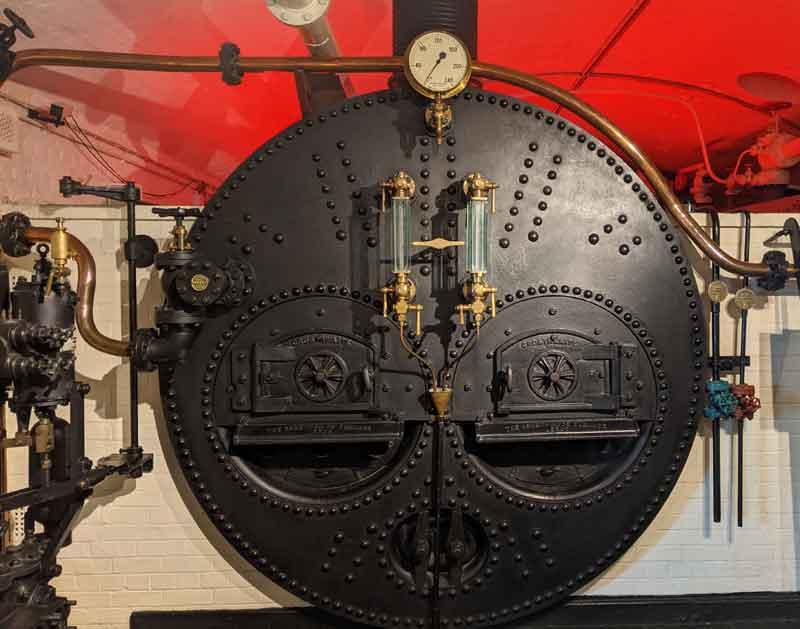 Steam Boiler at Tower Bridge, London, UK