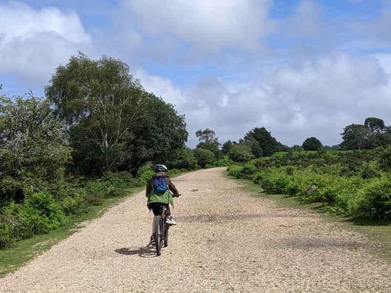 The Old railway trail, New Forest, Hampshire, UK