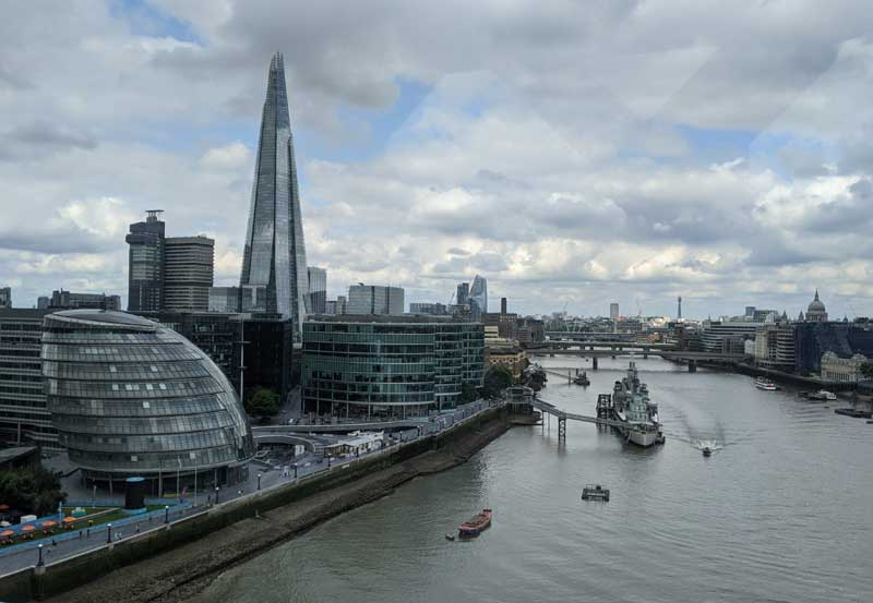 View from Tower Bridge, London, UK
