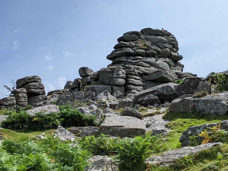 View of Houndtor Rock, Dartmoor, UK