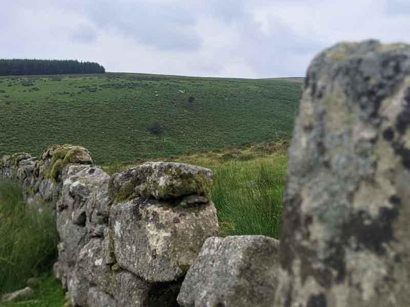 Views from walk to Wistmans Wood, Devon, UK