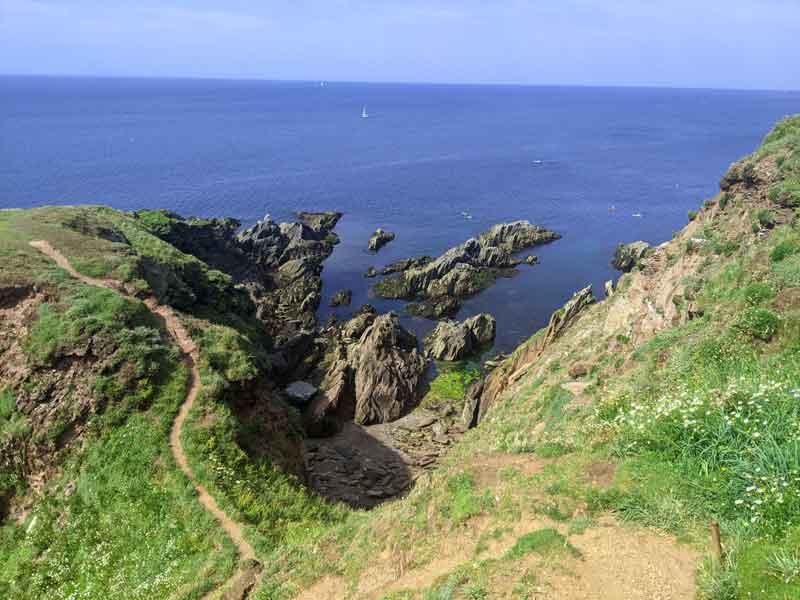 Walking Trails at Burgh Island, Devon, UK
