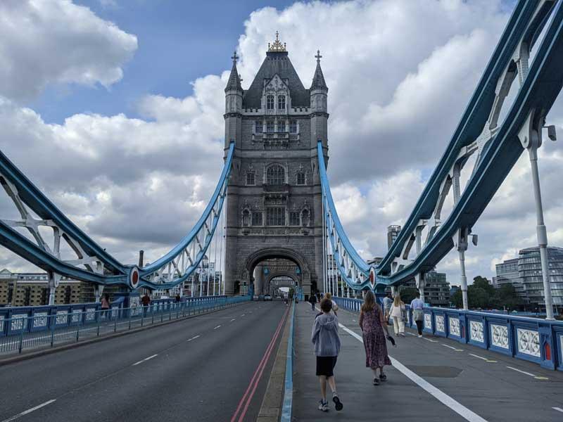 Walking on Tower Bridge, London, UK
