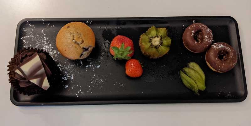 Welcome platter Ibis Hotel, London, UK