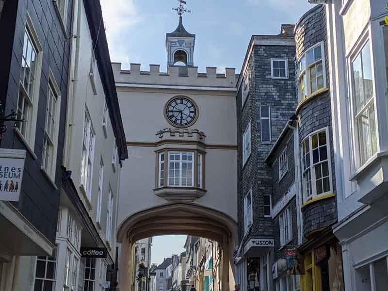 East Gate Archway, Totnes, Devon, UK