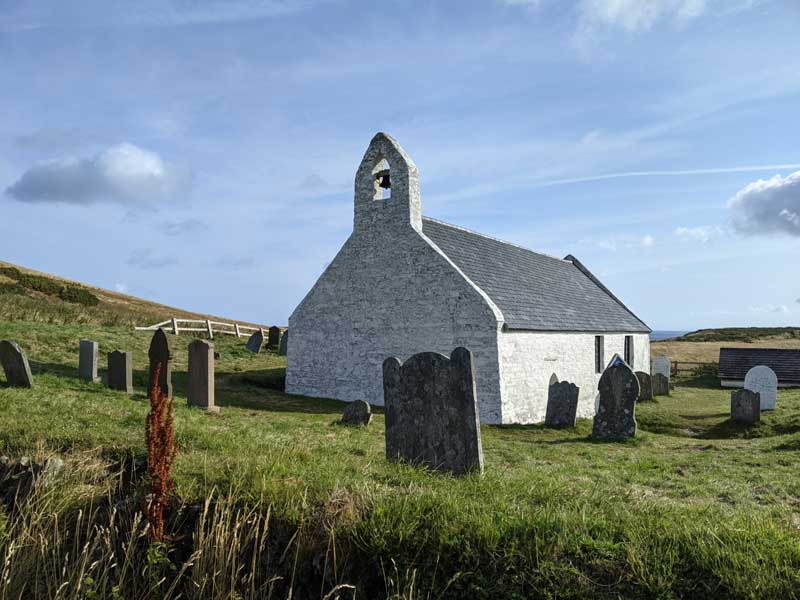 Eglwys y Grog Church of the Holy Cross, Mwnt, Wales, UK