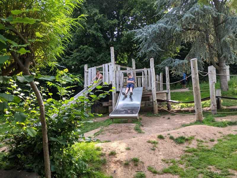 Children's Play Equipment, Leechwell Garden, Totnes, Devon, UK