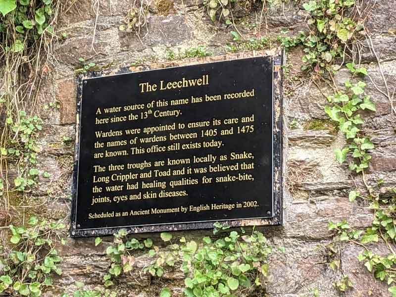 Leechwell, Totnes, Devon, UK