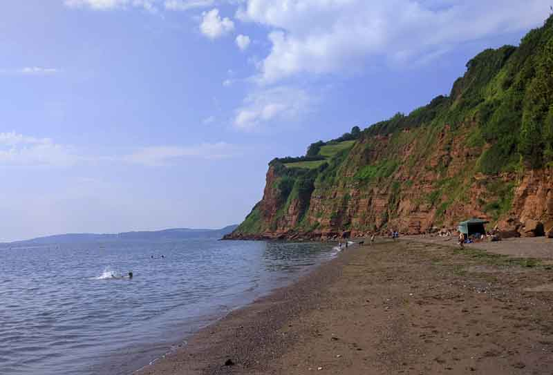 Ness beach view, Shaldon, Devon, UK