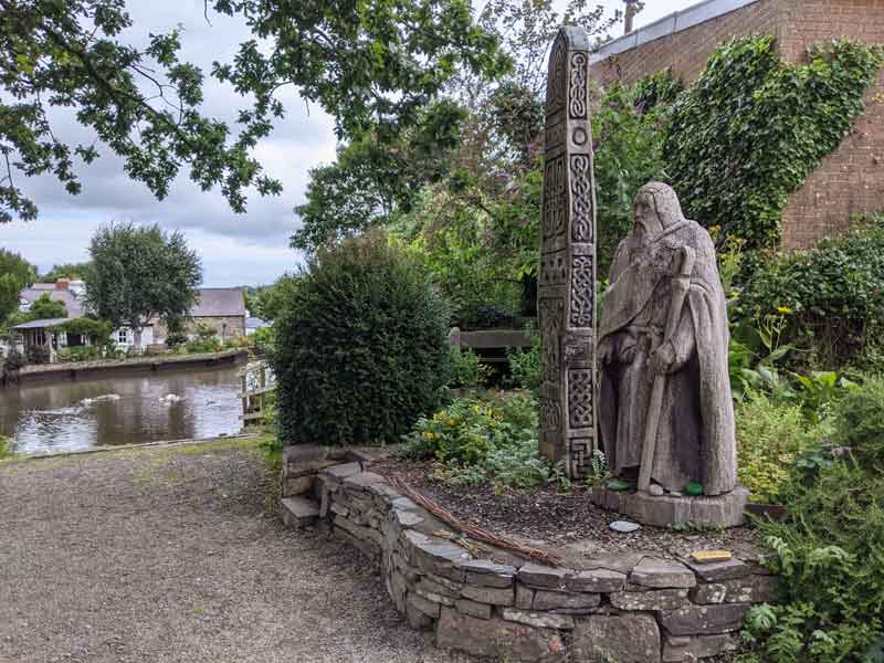 Statue at St Dogmaels Duckpond, Wales