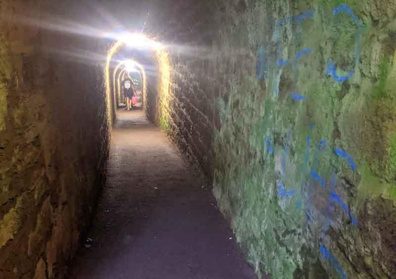 Tunnels to Ness Beach, Shaldon, Devon, UK