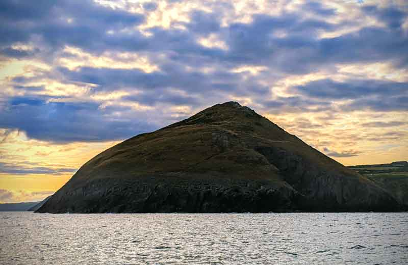 View of Mwnt from the sea, Wales