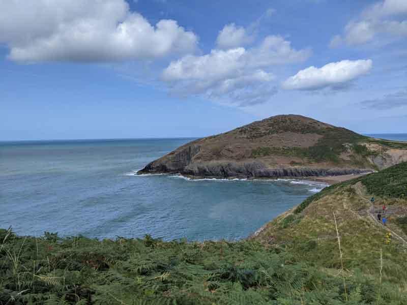 Views of Mwnt from coastal path, Wales