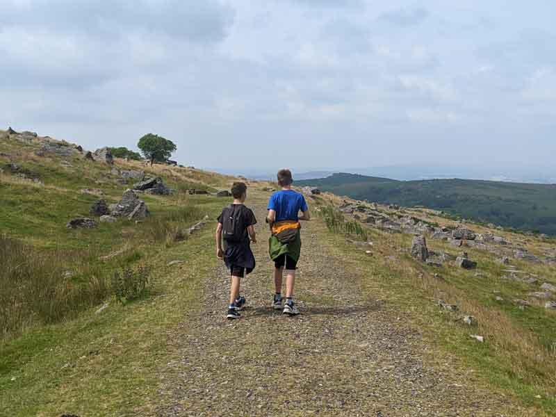 Walking to Kings Tor, Dartmoor, UK