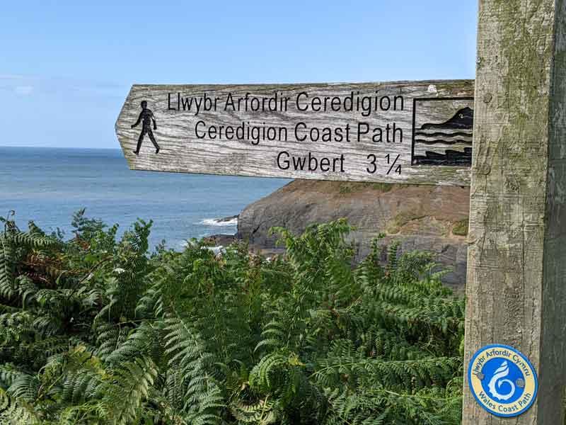 Coastal path, Mwnt, Wales, UK