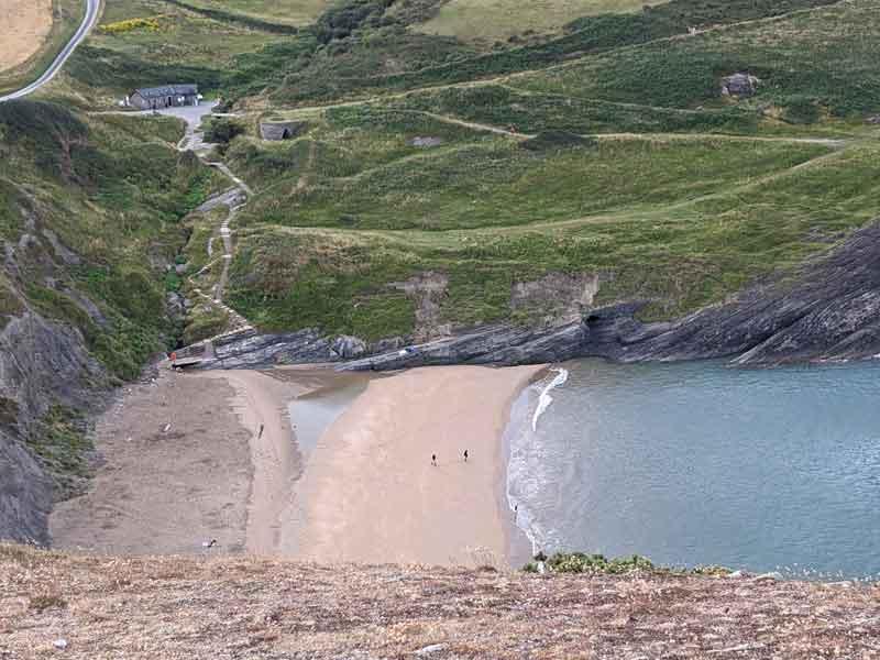 Facilities at Mwnt Beach, Wales, UK