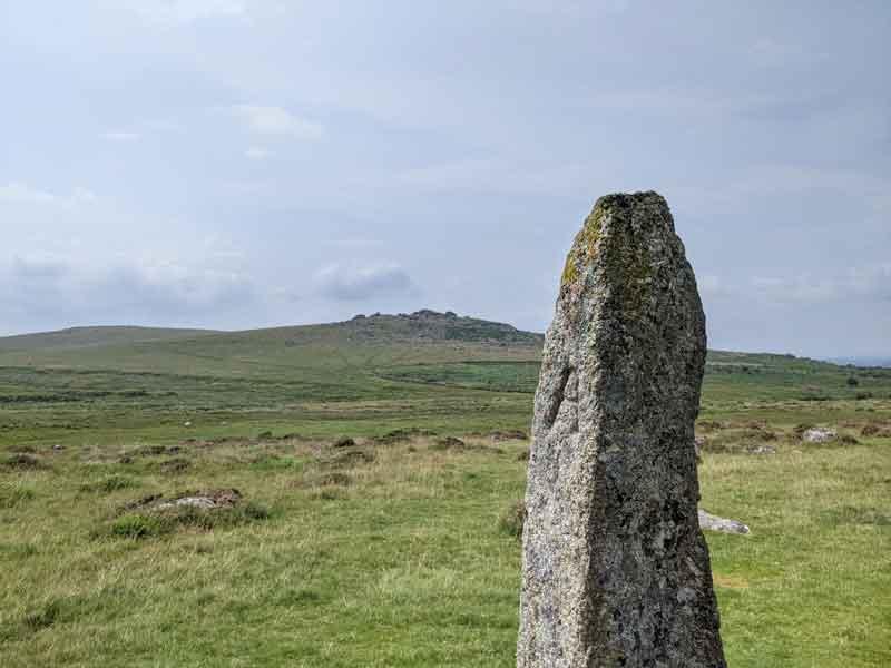Tall stone Merrivale, Dartmoor, UK
