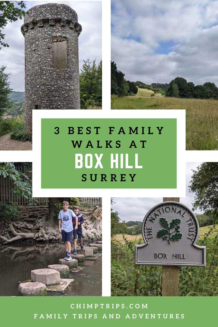 Pinterest: 3 best family walks at Box Hill, UK