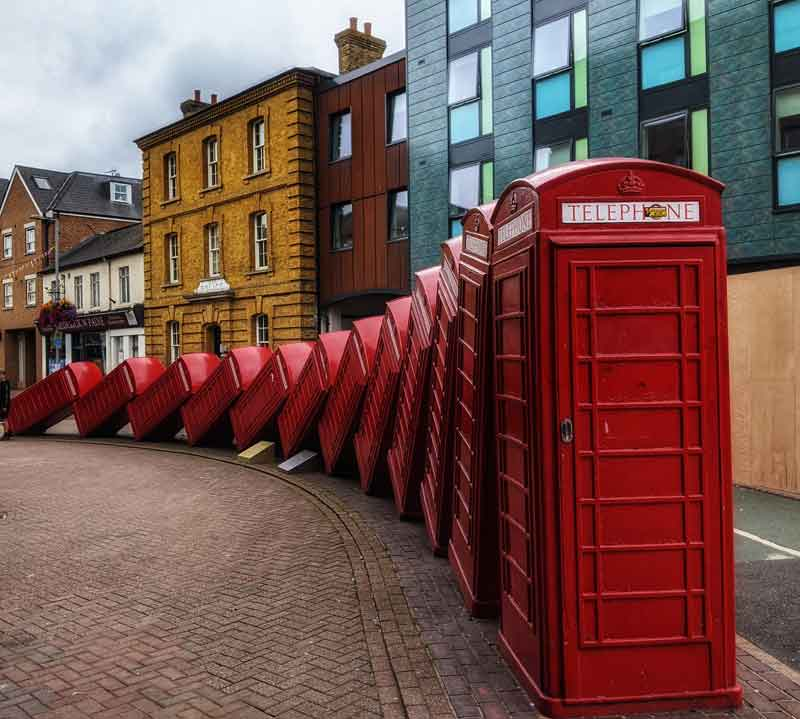 Out of Order by David Mach, Kingston, UK