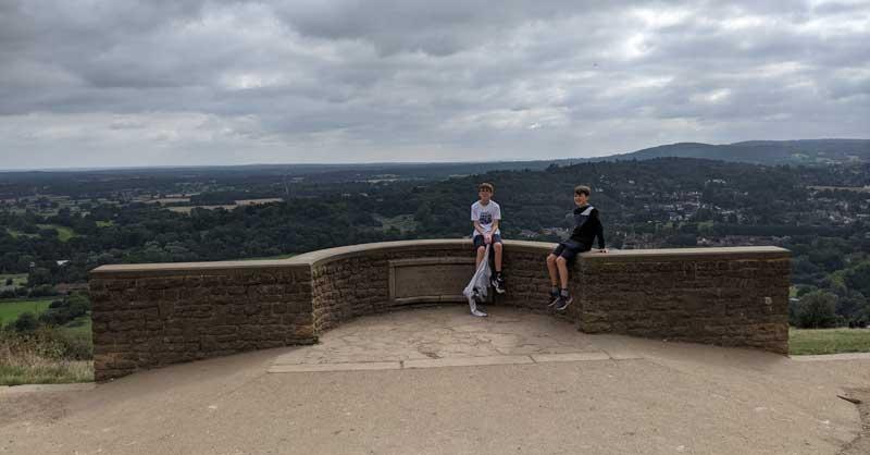 Salomones viewpoint, Box Hill, Surrey, UK