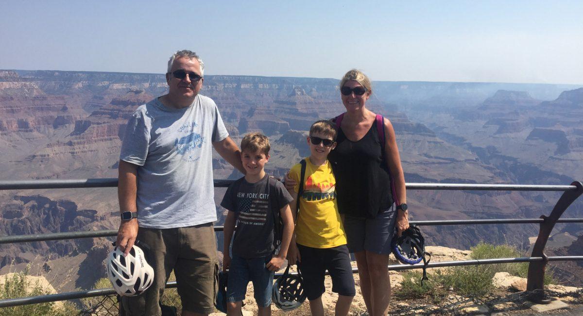 Cycling at the Grand Canyon, Arizona