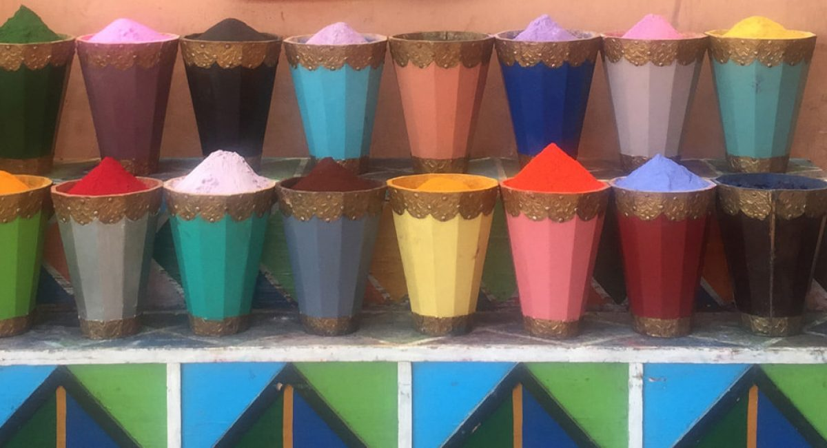Spice at a traditional Moroccan souk,